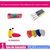 Kit Costura Aviamentos Máquina De Costura Galoneira Colareti