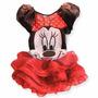 Vestido Fantasia Festa Minie Infantil Frete Gratis