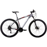 Bicicleta Audax Adx 100 Mtb 29er 2017 Altus 27v Cinza Tam 17