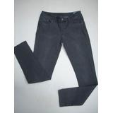 Jeans Gris Oscuro Lee Mujer Talla: 42 Elasticado.
