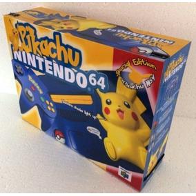Caixa Vazia Nintendo 64 Edição Pikachu De Madeira Mdf
