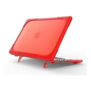 Carcasa Case Funda Macbook Anti Impacto Pro Air Rojo Soporte