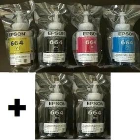 6 Tintas Epson Original L395 L375 L220 L220 L120 L355 L365.