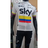 Uniformes De Ciclismo Sky Campeón Nacional De Colombia