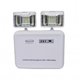 Luminária Luz Emergência Led 2 Faróis 1.200 Lumens-segurimax