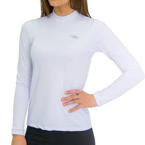 Camiseta Térmica Manga Longa Feminina Branca Melhor Preço