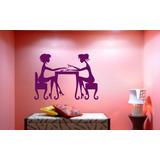 Adesivo Decorativo Parede Salão De Beleza Manicure 50cmx36cm