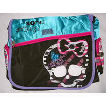 Preciosa Mochila Monster High Original, Amplia, Porta Laptop