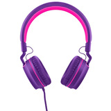 Headphone Pulse Fun - Microfone, Rosa E Roxo Ph161