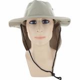 Sombrero Con Cubrenuca Pesca Color Beige Contra Rayos Uv
