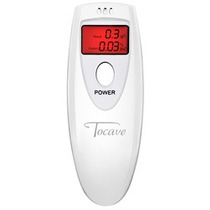 Bafômetro Digital Tocave Slim Branco Com Display De Cristal