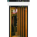 Puertas Plegables Importada Color Caoba 85x210