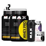Combo Max Titanium 2x Whey Pro+bcaa+creatina+coqueteleira!