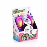 Patins Infantil Easy Roller Rosa Roda Gel Led Coloridas