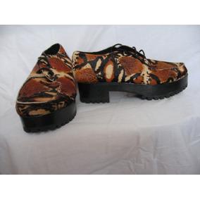 Zapatos Mishka, Nº 39, Cuero, Abotinados Mujer, Nuevos