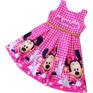 Vestido De Cumpleaños Para Niña Minnie Mouse - Ig