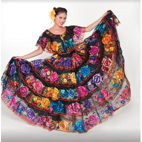 Vestido Chiapaneca Regional Tipico Chiapas Doble Vuelo