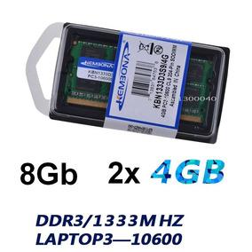 Memória Notebook Ddr3 8 Gb Kit 2 X 4 Gb Ddr3 1333mhz