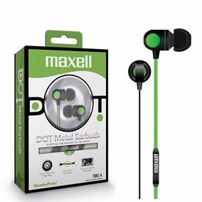 Auriculares Maxell Manos Libres Microfono Dot Metal Earbuds