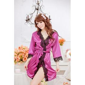 Bata Satinada, Estilo Playboy Kawaii Moda Coreana Mod.249