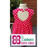 Vestido Minnie Corazón Espalda Princesa Fiesta Bombona Chic