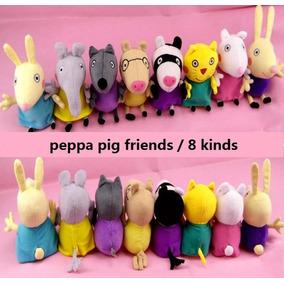 Peppa Pig 8 Amigos Pelucia Pronta Entrega