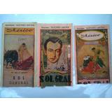 Boletos De Toros Plaza México 3 Antiguos De Colección 1
