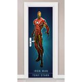 Adesivo Porta Parede Vingadores Homem De Ferro Comic Desenho