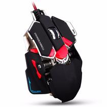 Mouse Gamer Optico 10 Botones Cordon Usb Combate Metalico