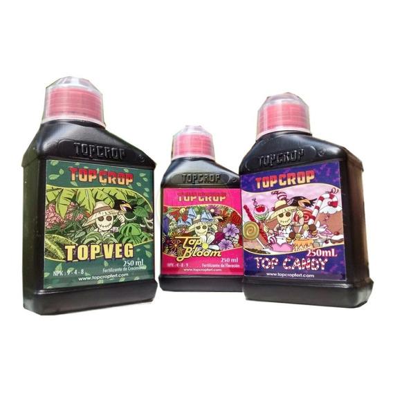 Fertilizantes Combo Top Crop  Vege + Bloom +candy 250 Ml