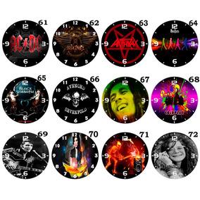 Kit C/12 Relógios Parede Atacado Banda Artista Rock Clássico