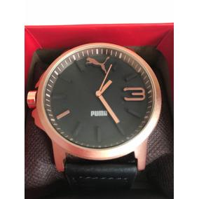 Reloj Puma Ultrasize Black. Cromado, Correa Vinipiel