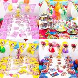 90pcs Tema Cumpleaños Fiesta Fiesta Fiesta Infantil Fiesta