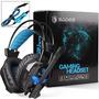 Sades Headset Gamer A30s Black Microphone Vibration Usb Fone