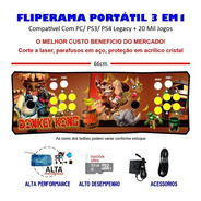 Fliperama Portátil Slim 3 Em 1 - Donkey Kong