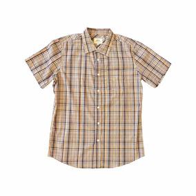Camisa Botão Ecko Unltd Importada Xadrez M Fundo Branco