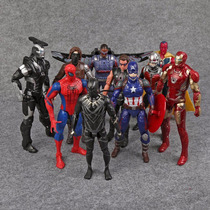 Coleção 10 Bonecos Guerra Civil Marvel Avengers Vingadores