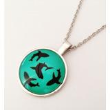 Collar De Tiburón Collar De Moda Dije Tiburón Bisutería Dije