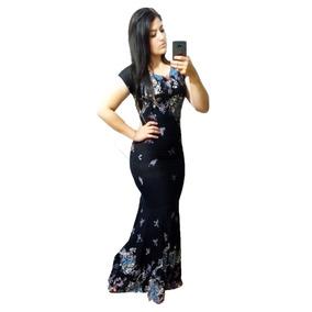 Vestido Sereia Evangélica Costas Fechada Estampas Lindas