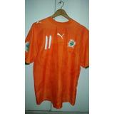 Camisa Da Seleção Da Costa Do Marfim Drogba no Mercado Livre Brasil 797e688a6249c