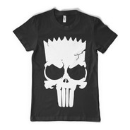 Bart Simpson Punisher Remera  - Color Animal