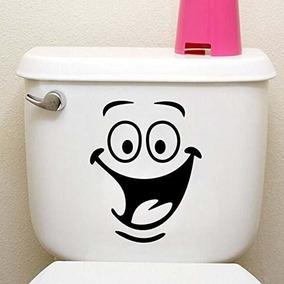 Animación Divertida Big Eyes Toilet Wall Decal Tamps