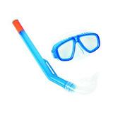 Mascara Visor + Snorkel Set 3-6 Azul/verde/24018