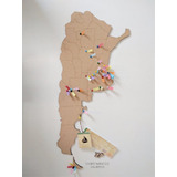 Mapa De Argentina En Corcho Ideal Regalo