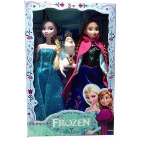 2 Boneca Filme Frozen Disney Princesa Elsa Ana E Olaf Canta