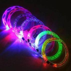 10 Pulsera Luminosa Led Fiesta Noche Batucada Disco Neon Glo