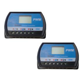 2 Controladores De Carga Solar 30a 12/24v, Usb, Envío Gratis