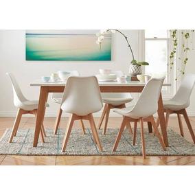 Combo Escandinavo Mesa + 6 Sillas - Living Style