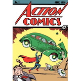 Superman Comics Poster Primera Edición Action Comics