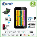 Tablet 7 Hdmi+funda +microsd 32gb+auricular Noga+cable Hdmi